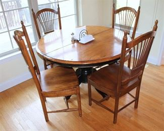 Kitchen table with 4 chairs (one of the chairs has damage)
