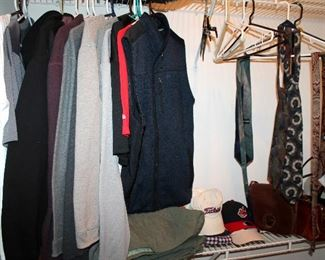 Some men's clothing and shoes