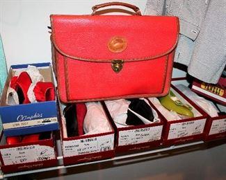 Dooney & Bourke briefcase, ladies shoes - most are size 9-9.5 - designer names - many Salvatore Ferragamo, Cole Haan, Stewart Weitzman, UGGS, Etienne Aigner, and more!