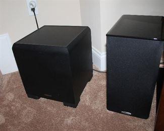 Klipsch KSW-50 subwoofer, Polk Audio TSi200 speakers