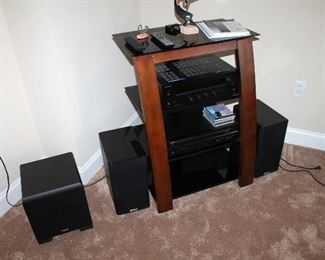 TV / stereo stand, electronics