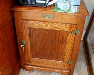 White Clad end table / cabinet