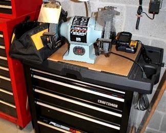 """Craftsman tool chest, Delta 8"""" bench grinder"""