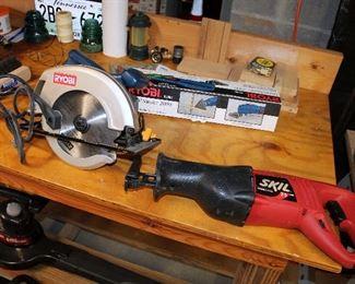 Ryobi and Skil saws