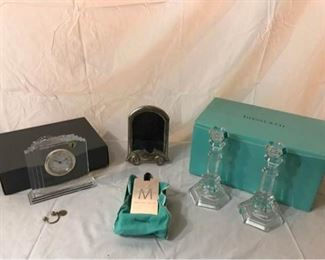 005 Tiffany Crystal, Tiffany Silver, and Waterford Clock