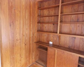 book shelving paneling