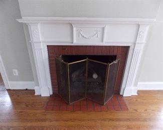 vintage fire place fire place mantel screen