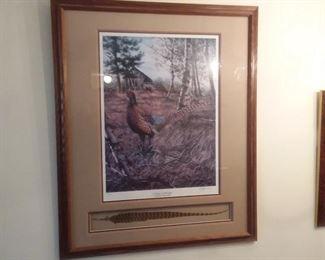 Unique signed & numbered pheasant print!