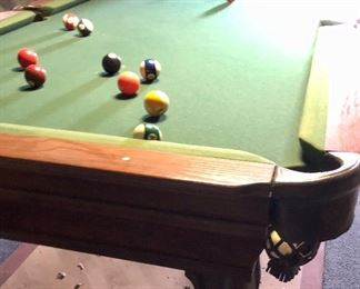 Prescott Pool Table from Connelly Billiards with all accessories