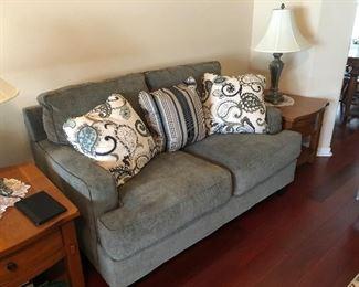 Beautiful gray sofa & matching love seat