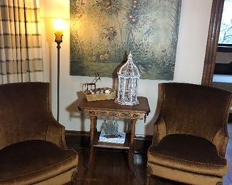 $145 Large Wall Art Plaque Painting Décor                    FIRM $195 (each) Hickory White Empire Style Side Chair