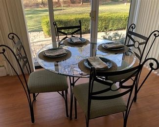 Very Nice Iron and Glass Table