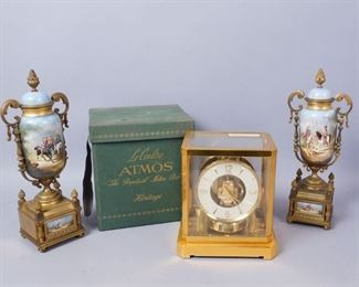 LeCoultre Atmos Clock and Mantle Garnitures