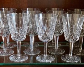 signed Waterford crystal goblets
