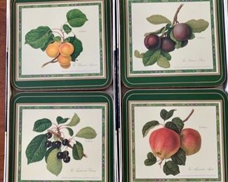 There's a nice assortment of Pimpernel coasters and placemats in this sale.