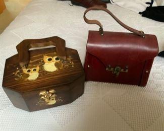 More than 50 vintage handbags, purses, wallets
