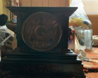 Ansonia mantle clock with key