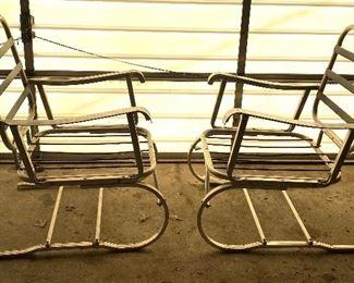 Vintage aluminum chairs