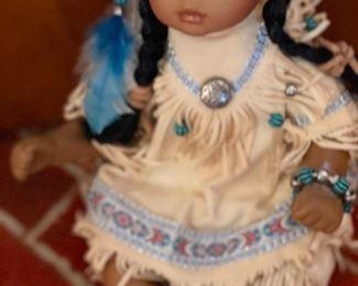 Native american dolls including Skookum