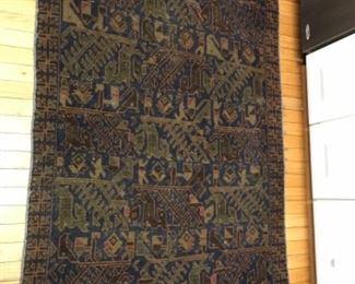 "Baluchi handmade rug from Afghanastan measures 41""w x 75""l"