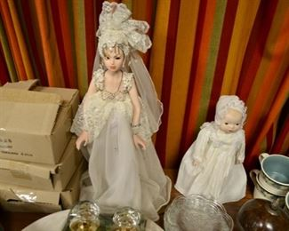 Seymour Mann bridal doll; small doll has been removed from sale