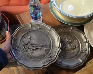 """Birth of a Nation"" pewter plates"