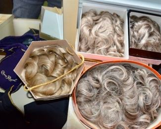 selection of wigs & hair pieces