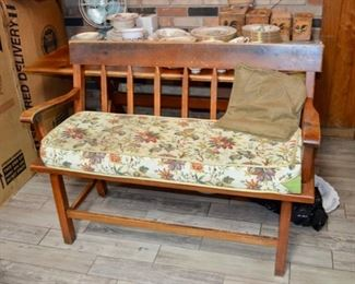 pine kitchen table & bench