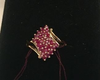14k gold ruby ring $165.