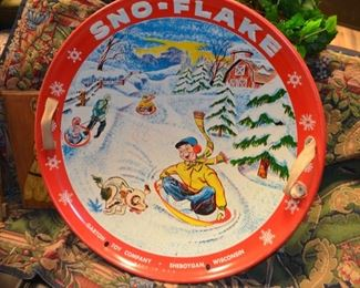 Sno-Flake snow disc from the 1950s-60s