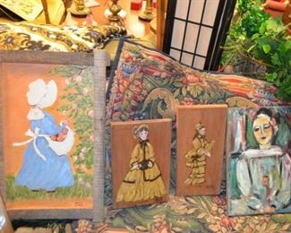 late local folk artist Miss Edna paintings & other original art