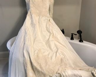 Beaded Wedding Gown with Train