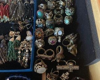 Heidi Daus Rings and Earrings