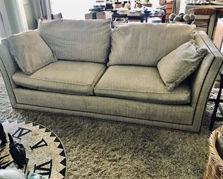 Sherrill Nail Head Sofa with Down Filled Cushions,  )Purchased at Batte) -- $650