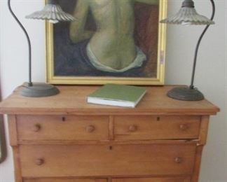 "Don't you just love her and yes the dresser is great 39"" high, 40""wide & 19 1/2 deep"