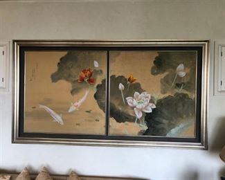 David Lee silk painting original price $18,500 our price $1,800 (Saturday's sale price is $900)