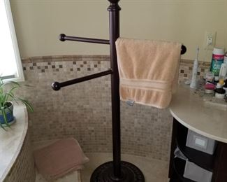 Large towel stand (apprx 4') $75