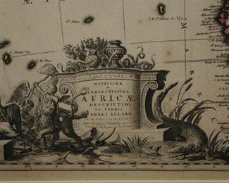 [72] 1709 CAROLI ALLARD AFRICAN MAP