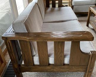 A. Brandt Ranch Oak sofa $1,200.00