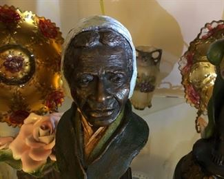 Rare Harriet Tubman Bronze by Tuskegee Airman, Ed Dwight
