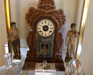 Antique Clocks.  There are a few wall and mantle clocks for sale