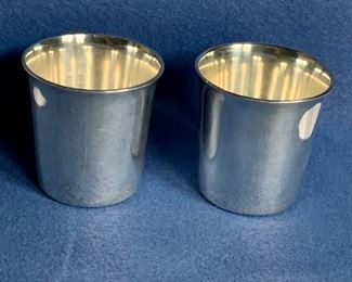 Pair $320 Pair Tiffany reproduction of Ludwig Heck racing cup; Sterling, marked Tiffany 20634
