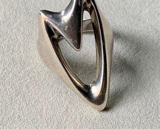 $165 Georg Jensen Henning Koppel Design ring #89 Mid 1970's design 11.57 g