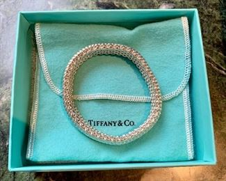 $350 Tiffany Sterling Mesh bracelet Somerset collection 55g 7.25inches