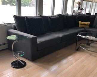 Glass & chrome coffee & end tables