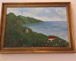 """Cane Bay"" by Dorothy Marshall, 41"" x 29""."