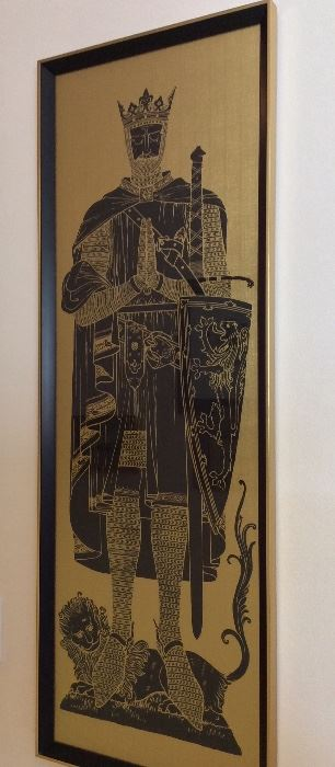 "Robert the Bruce, King of Scotland, 16"" x 46""."