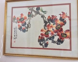 """""""Kapok Blossom"""" by Henry Wo Yue-kee, 30 1/2"""" x 24""""."""