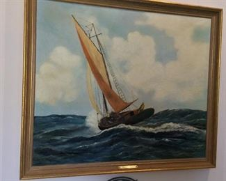"""""""Rough Seas"""", 39 1/2"""" x 33 1/2""""."""