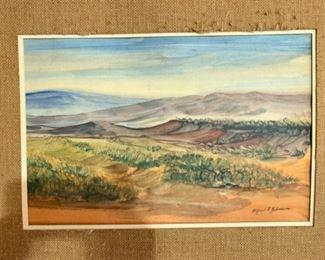 Mid century watercolor